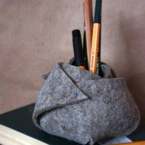 DIY: Как сделать корзинку из войлока своими руками для мелочей