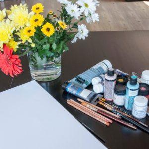 DIY: Рисуем картины бутонами цветов