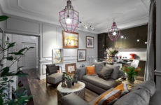 Гостиная недели 20 кв.м — дизайн в стиле студий Латинского квартала