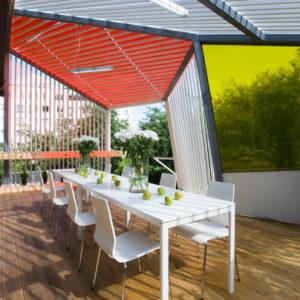 Проект недели: Терраса с оптимистичными цветными панелями