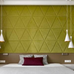 Квартира со скандинавским дизайном и треугольными узорами