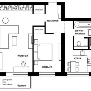 Перепланировка: Типовая квартира в доме серии 18-01/12