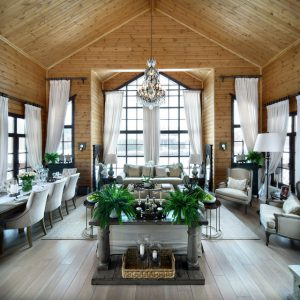 Проект недели: Двухсветная гостиная на семейной даче