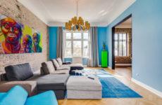 Германия: Кирпич, золото и амбарные ворота в гамбургской квартире