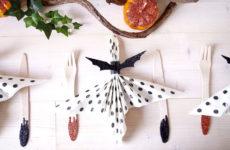 DIY: Кольца для салфеток в виде летучих мышей