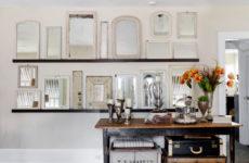 Микротренд: Множественные композиции из зеркал на стене