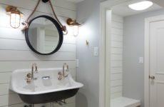 Проект недели: Ванная комната в подвале в морском стиле