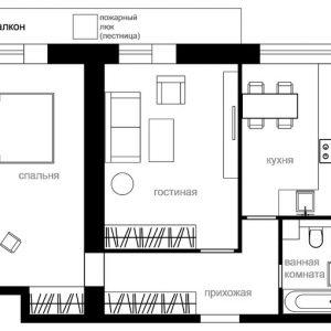 Перепланировка: Квартира в доме серии И-209А