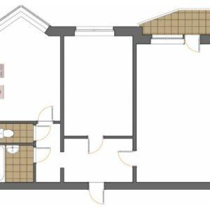 Планировка: Дома П-44 и П-44Т дизайн двухкомнатных квартир с фото