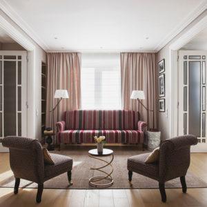 Современная классика и анфилады в семейной квартире