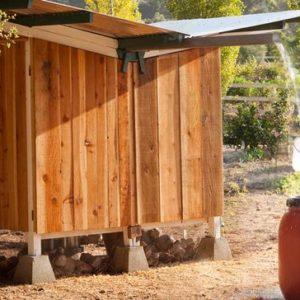 Проект недели: Курятник в Калифорнии, собирающий дождевую воду