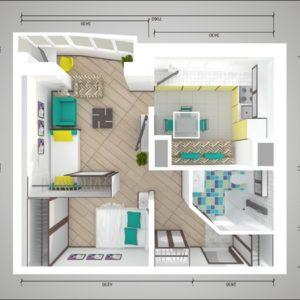 Планировка: Пять решений для однокомнатной квартиры в домах серии П-44Т