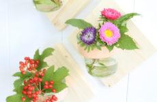 DIY: Декоративные настенные вазы для цветов