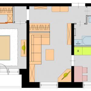 Планировка: 5 решений для двухкомнатной квартиры дома серии 1605-АМ