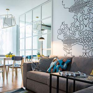 Украина: Скандинавский дизайн двухкомнатной квартиры 43 кв.м