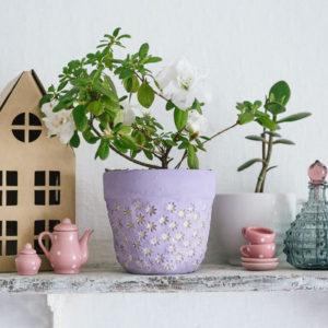 DIY: Горшки из глины с неожиданным декором