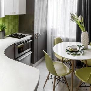 Квартира с зелеными акцентами в Бирюлево