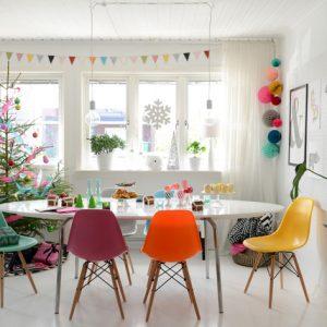 Швеция: Скандинавская квартира, украшенная … цветом