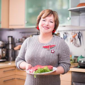 Рецепты: Салат с рукколой и ростбифом