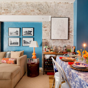 США: Яркая квартира в Нью-Йорке