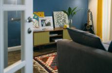 Двухкомнатная квартира с килимами в доме серии II-14