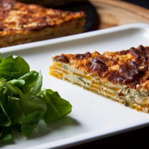 Рецепт: Клафути с кабачками и овечьим сыром