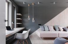 Проект недели: Асимметричная гостиная на подмосковной даче