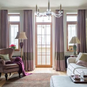 Квартира цвета увядающей розы — для молодой семьи