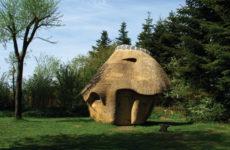 Дания: Сауна с камышовой крышей