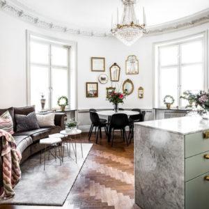 Швеция: Квартира в круглой башне в Стокгольме
