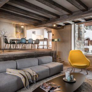 Франция: Современное шале в старом доме в Мерибеле