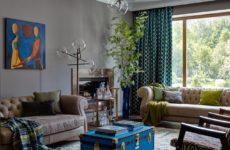 Дом в роще — с двусторонним камином и картинами