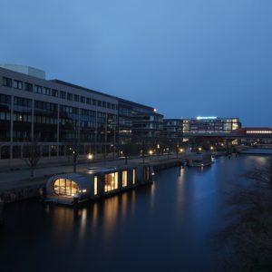 Германия: Энергосберегающий дом на плаву в Гамбурге