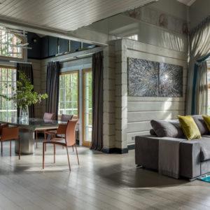 Дом на горнолыжном курорте с двусветной гостиной и СПА