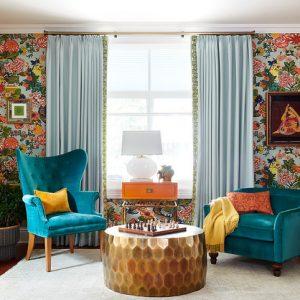 Вопрос: Как подобрать шторы к цвету обоев