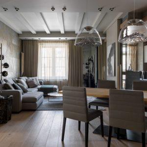 Квартира с потайным кабинетом и нордической атмосферой