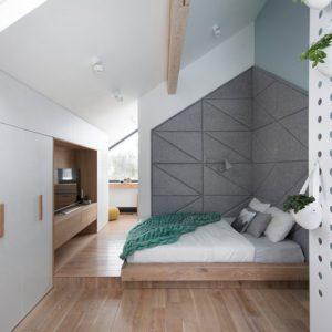 Проект недели: Спальня в мансарде — с кабинетом и телескопом