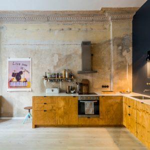 Германия: Кухня с ободранными стенами