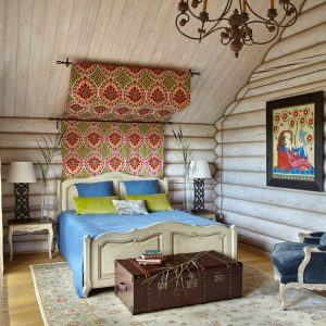 В закладки: Спальня в деревянном доме — 27 идей