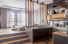 Квартира с подиумом в центре Краснодара