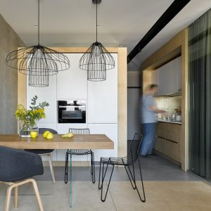 Квартира 41 кв.м — бетон и синяя фанера