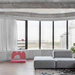 Квартира с бетонными стенами